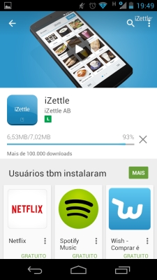 Aplicativo no Google Play